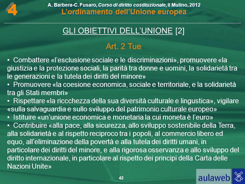 GLI OBIETTIVI DELL'UNIONE [2]
